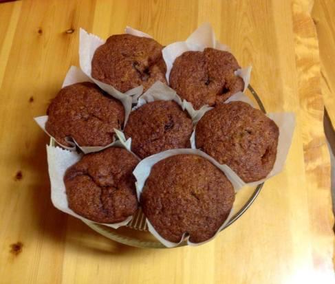 Muffins de Platano con nutella Any Gonzalez